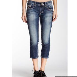 Vigoss Chelsea Capri Jeans embellished Pockets 4